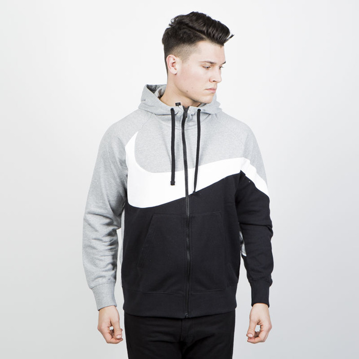 eng pl Sweatshirt-Nike-NSW-HBR-Hoodie-black-grey-heather-AR3084-063-34775 1